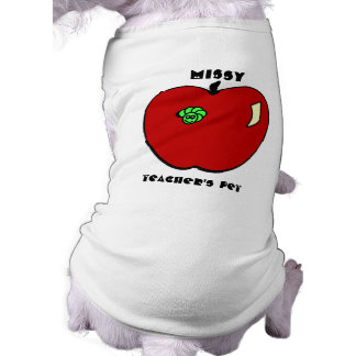 Apple for the Teacher Pet Apparel Sleeveless Dog Shirt