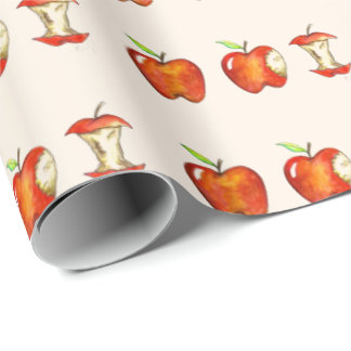 Apple for the Teacher Red Fruit School Education Wrapping Paper