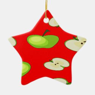 Apple fruit pattern ceramic star decoration