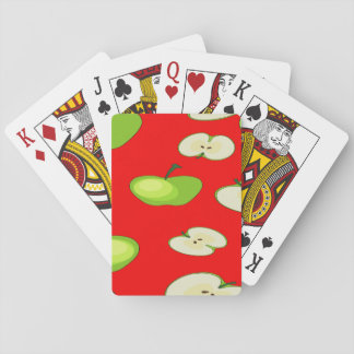 Apple fruit pattern playing cards