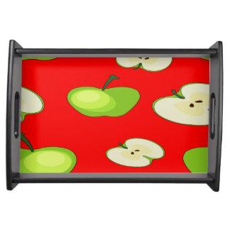 Apple fruit pattern serving tray