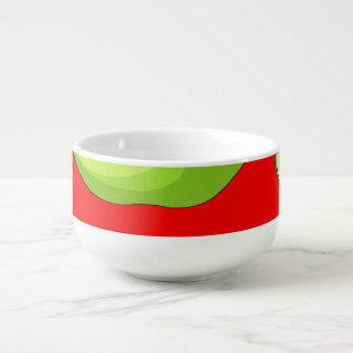 Apple fruit pattern soup mug