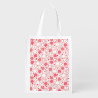 Apple Fruity Pattern Reusable Grocery Bag