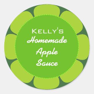 Apple gooseberry label round stickers