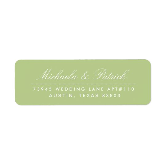 Apple Green Address Labels