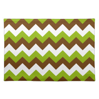 Apple Green and Brown Chevron Placemat