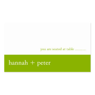 Apple Green Banner :: Guest Seating Card Business Card Template
