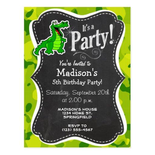 Apple Green Camo; Alligator, Gator Post Cards