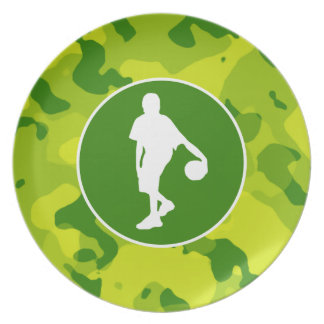 Apple Green Camo; Basketball Plate