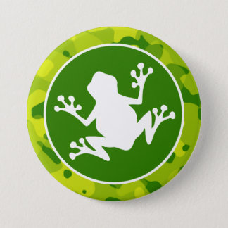 Apple Green Camo; Frog 7.5 Cm Round Badge