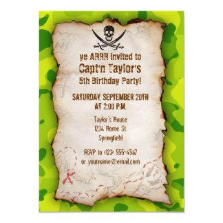 Apple Green Camo; Jolly Roger Custom Invitations