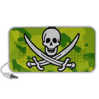 Apple Green Camo Jolly Roger Travel Speaker