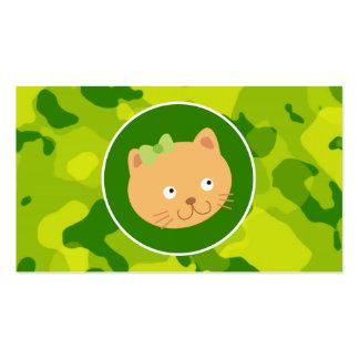 Apple Green Camo; Kitten Business Card