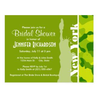 Apple Green Camo New York Postcards