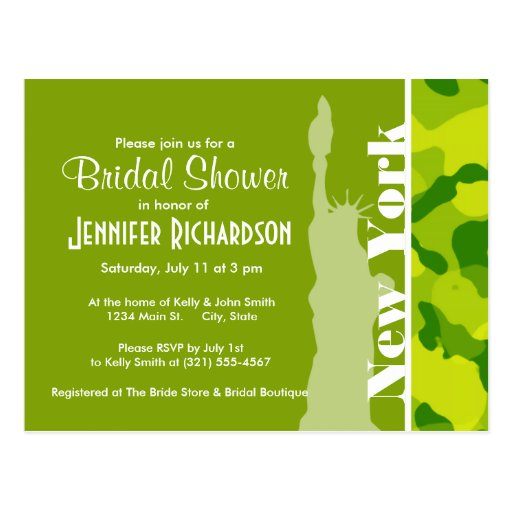 Apple Green Camo; New York Postcards