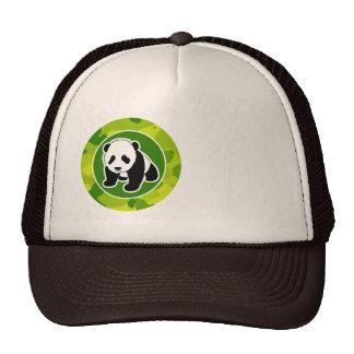 Apple Green Camo; Panda Cap