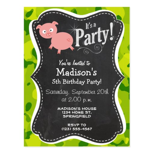 Apple Green Camo; Pig Post Cards