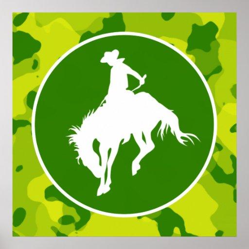Apple Green Camo; Rodeo Cowboy Poster