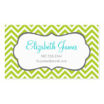 Apple Green Chevron Business Cards