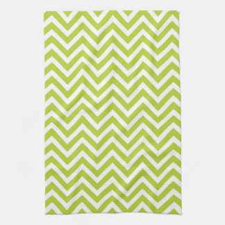 Apple Green Chevron Tea Towel