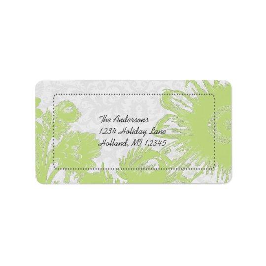 Apple Green Daisy Return Address Labels