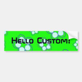 Apple Green Dreaming Lotus Car Bumper Sticker