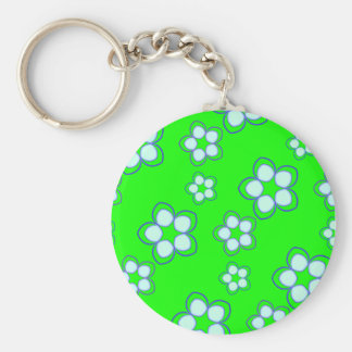 Apple Green Dreaming Lotus Key Ring