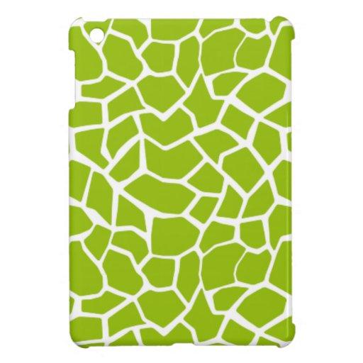 Apple Green Giraffe Animal Print iPad Mini Case