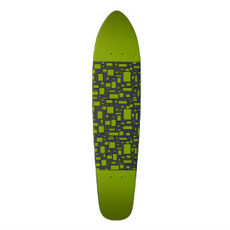 Apple Green gray geometric pattern Custom Skateboard