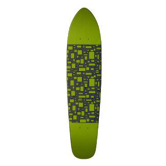Apple Green gray geometric pattern Custom Skateboard