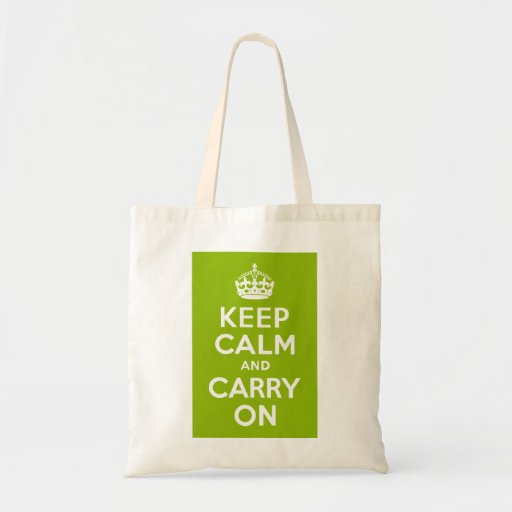 Apple Green Keep Calm and Carry On Bag