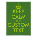 Apple green KeepCalm posters | Personalised text
