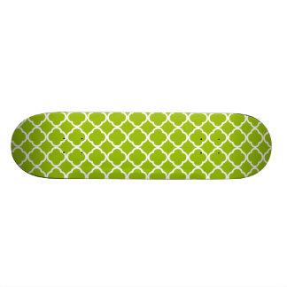 Apple Green Quatrefoil Skate Decks