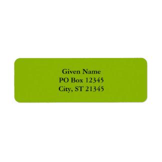 Apple Green Return Address Label