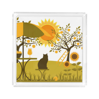 Apple Harvest Acrylic Tray