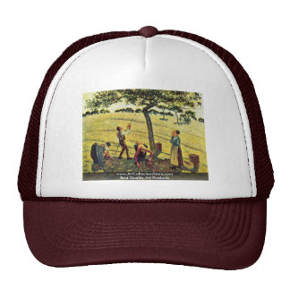 Apple Harvest At Eragny,  By Camille Pissarro Trucker Hat