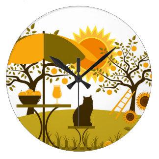 Apple Harvest Large Clock
