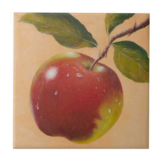 Apple Harvest Small Square Tile