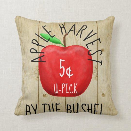 Apple Harvest Vintage Sign Cushion