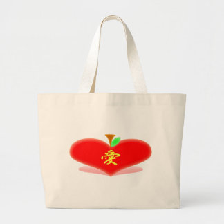 Apple Heart Tote Bag