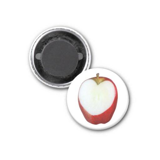 Apple Heart Fridge Magnets