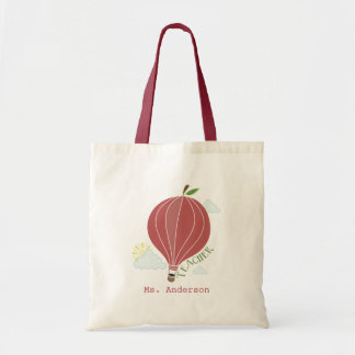 Apple Hot Air Balloon Bag For Teachers