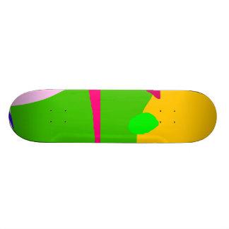 Apple House Purple Hat Red Boat Green Skate Board Deck