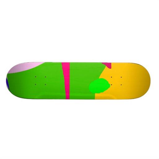 Apple House Purple Hat Red Boat Green Skateboard Decks