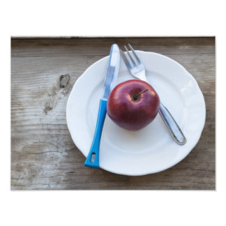 apple in the plate photo print