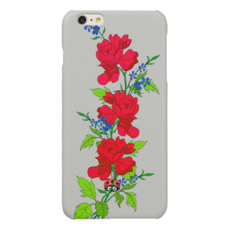 Apple iPhone 6 Red Fowers iPhone 6 Plus Case