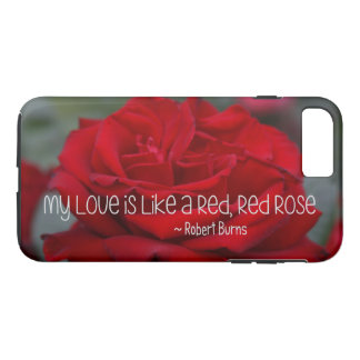 Apple iPhone 7 Plus, Tough Case My Love Red Rose