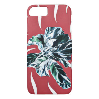 Apple iPhone 8/7, Peacock plant with red iPhone 8/7 Case