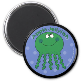 Apple Jellyfish 6 Cm Round Magnet