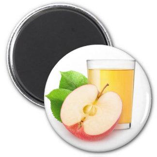 Apple juice 6 cm round magnet